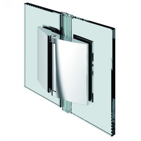 Papillon Glas-Glas 180° selbstschließend ZN Edelstahleffekt