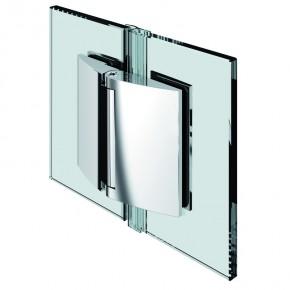 Papillon Glas-Glas 180° ohne selbstschließend ZN mattverchromt