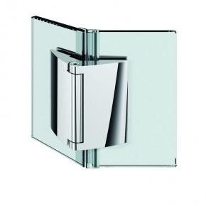 Papillon Glas-Glas 135° ohne selbstschließend ZN Edelstahleffekt