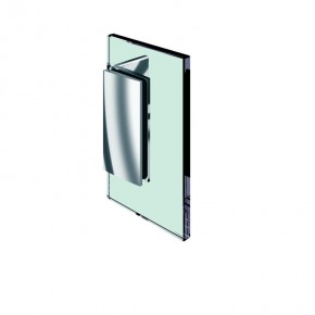 Winkelverbinder Farfalla Glas-Wand 90° starr mit Kappe ZN Edelstahleffekt