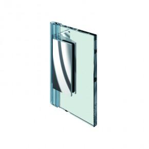 Farfalla Glas-Wand 90° innen ZN Edelstahleffekt