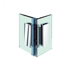 Farfalla Glas-Glas 180° oder 90° innen ZN Edelstahleffekt