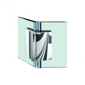 Farfalla Glas-Glas 135° außen ZN mattverchromt