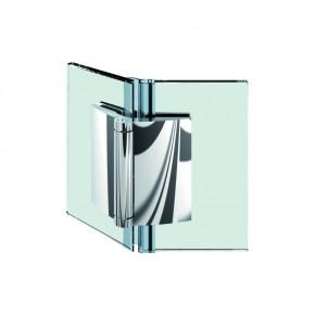 Farfalla Glas-Glas 135° außen ZN Edelstahleffekt