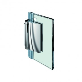 Farfalla Glas-Wand 90° außen ZN Edelstahleffekt