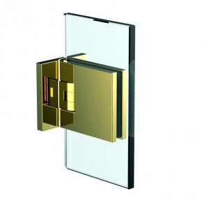 Flamea+ Glas-Wand 90° beidseitige Wandbefestigungslasche ZN Gold-Optik