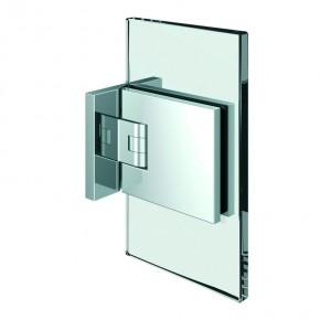 Flamea+ Glas-Wand 90° beidseitige Wandbefestigungslasche ZN Edelstahleffekt