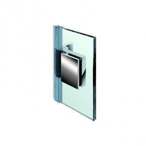 Flinter Glas-Wand 90° innen 3Federn ZN mattverchromt