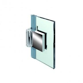 Flinter Glas-Wand 90° außen 3Federn ZN mattverchromt