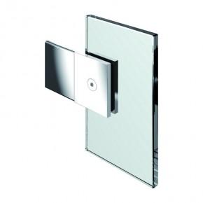 Längsverbinder Flamea Glas-Wand 180° starr ZN Edelstahleffekt