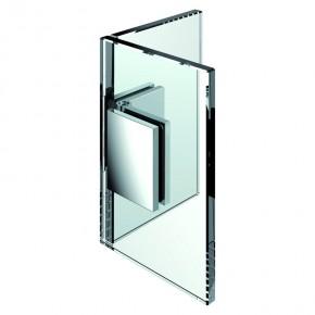 Winkelverbinder Flamea Glas-Glas 90° verstellbar 80°-180° ZN glanzverchromt