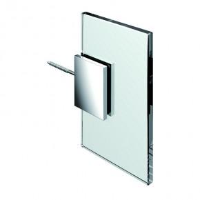 Winkelverbinder Flamea Glas-Wand 90° starr ohne sichtbare Wandbefestigungslasche