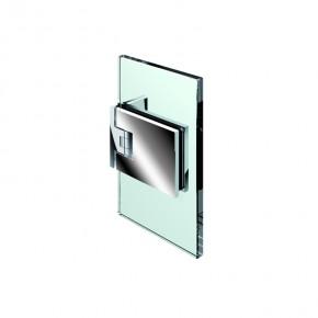 Flamea Glas-Wand 90° ZN Edelstahleffekt