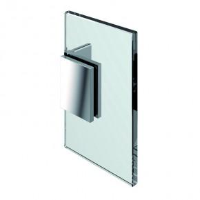Winkelverbinder Flamea Glas-Wand 90° starr mit Kappe ZN mattverchromt