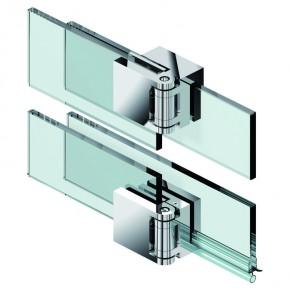 Fluture Set Glas-Glas 180° überlappend ohne Schwallschutz ZN Edelstahleffekt