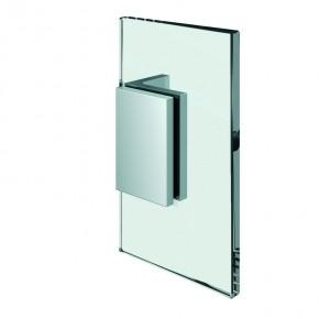 Winkelverbinder Flamea+ Glas-Wand 90° starr ZN Edelstahleffekt