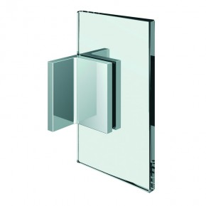 Winkelverbinder Flamea+ Glas-Wand 90° starr beidseitige Wandbefestigungslasche