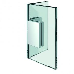 Winkelverbinder Flamea+ Glas-Glas 90° starr ZN Edelstahleffekt