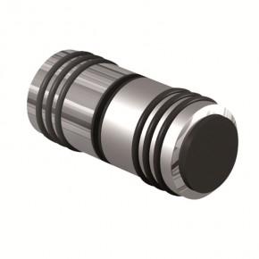 Griff beidseitig Ø30x34mm O-Ring Puffer MS Edelstahleffekt