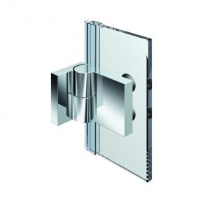 Nivello+ Glas-Wand 90° außen Wandbefestigungslasche außen links ZN mattverchromt