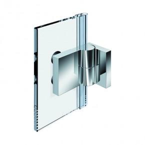 Nivello+ Glas-Wand 90° außen Wandbefestigungslasche außen rechts ZNmattverchromt