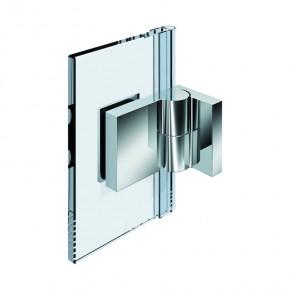 Nivello Glas-Wand 90° außen Wandbefestigungslasche außen rechts ZN mattverchromt