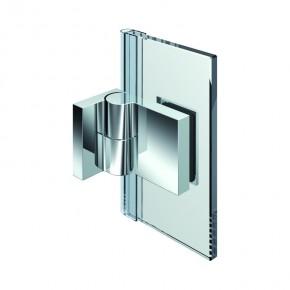 Nivello Glas-Wand 90° außen Wandbefestigungslasche außen links ZNEdelstahleffekt