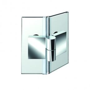 Nivello+ Glas-Glas 135° außen rechts ZN Edelstahleffekt