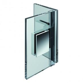 Nivello Glas-Glas 90° innen rechts ZN mattverchromt