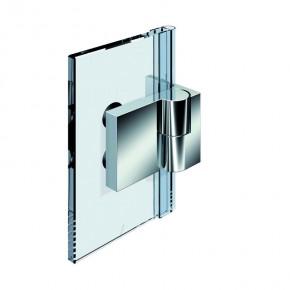 Nivello+ Glas-Wand 90° außen Wandbefestigungslasche innen rechts ZNmattverchromt
