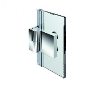 Nivello+ Glas-Wand 90° außen Wandbefestigungslasche innen links ZNglanzverchromt