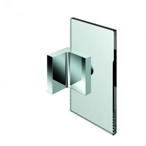 Winkelverbinder Nivello+ Glas-Wand 90° starr ZN Edelstahleffekt