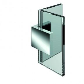 Winkelverbinder Nivello+ Glas-Glas 90° starr ZN mattverchromt