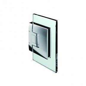 Pontere Glas-Wand 90° ohne sichtbare Wandbefestigungslasche mattverchromt