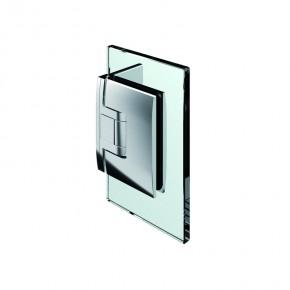 Pontere Glas-Wand 90° Edelstahleffekt