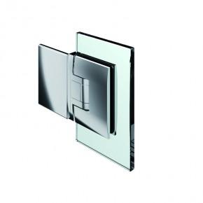 Pontere Glas-Wand 180° Edelstahleffekt