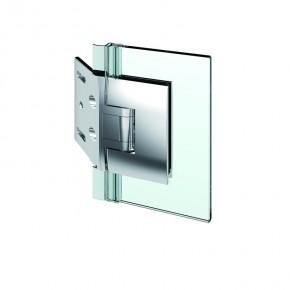 Pontere Glas-Wand 135° Edelstahleffekt