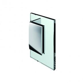 Winkelverbinder Pontere Glas-Wand 90° starr mattverchromt