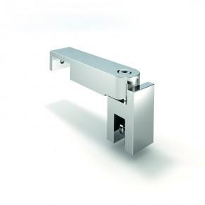 Stabilisationsstange 15x30mm T-Stück Glashalter 54x25x115mm MS mattverchromt