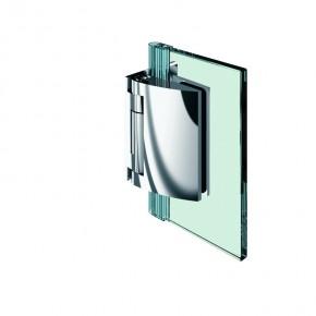 Pillango Glas-Wand 90° 4Federn ZN Edelstahleffekt