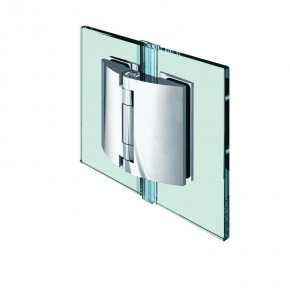 Pillango Glas-Glas 180° 2Federn ZN Edelstahleffekt