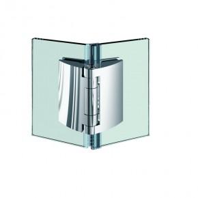 Pillango Glas-Glas 135° 2Federn ZN Edelstahleffekt