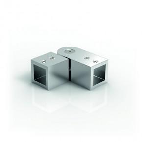 Stabilisationsstange 15x15mm Winkelverbinder 90°-180° verstellbar MS glanzverchr