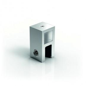 Stabilisationsstange 15x15mm Glashalter T-Stück 6-10mm komplett MSglanzverchromt