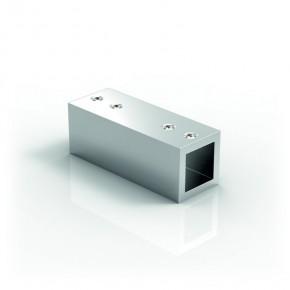 Stabilisationsstange 15x15mm Längsverbinder 180° starr MS glanzverchromt
