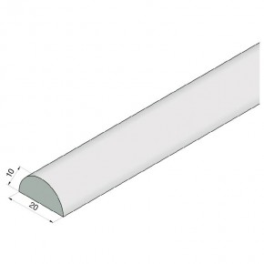 Schwallschutzprofil R10mm L=2.000mm KU glasklar