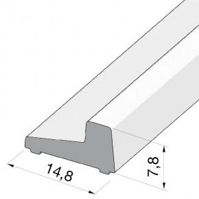 Schwallschutzprofil eckig L=2.010mm Alu glanzeloxiert
