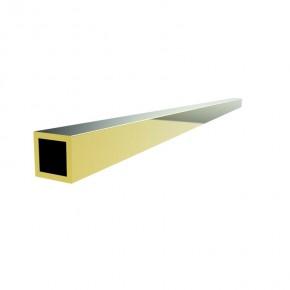 Rohr 15x15x1,5mm L=1.000mm Messing Gold-Optik