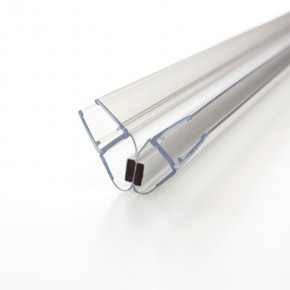 Magnet Dichtprofil 90° (2x45°) 6/8mm L=2.500mm KU transparent
