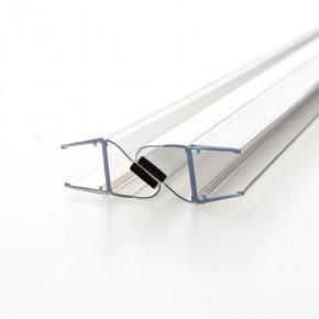 Magnet Dichtprofil 180° (2x90°) 10/12mm L=2.500mm KU transparent